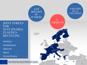 Image listing numbers of the project group. The projects represent 23 million Euros EU-funding, with partners of 13 different European Countries (Norway, Sweden, Finland, Netherlands, Belgium, France, Spain, Germany, Switzerland, Austria, Hungary, Greece, Cyprus)